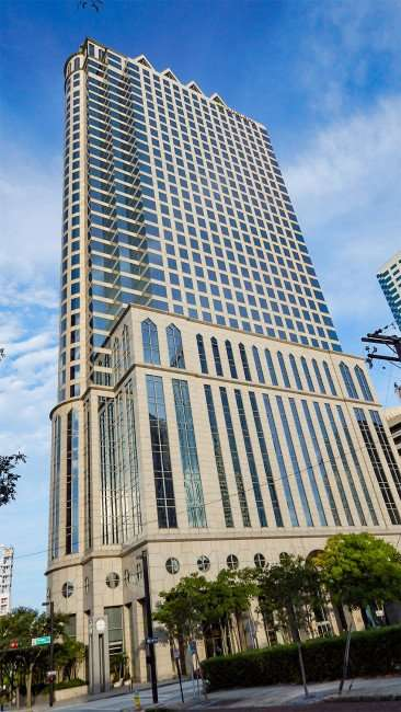 AUG 23, 2015 - Full view of 100 North Tampa Regions building in Downtown Tampa, FL/photonews247.com
