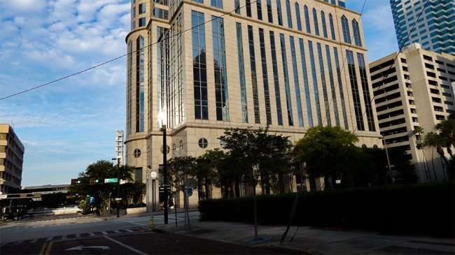 AUG 23, 2015 - Regions building on Tampa North Street, Downtown Tampa, FL/photonews247.com