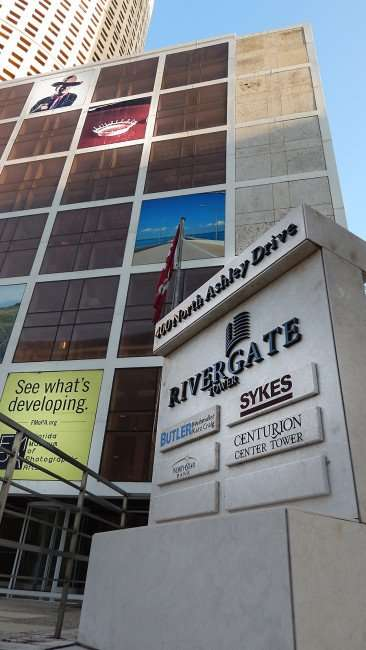 JULY 26, 2015 - Rivergate Tower sign - Sykes, Centurion Center Tower, Butler Weihmuller Katz Craig LLP, North Star Bank/photonews247.com