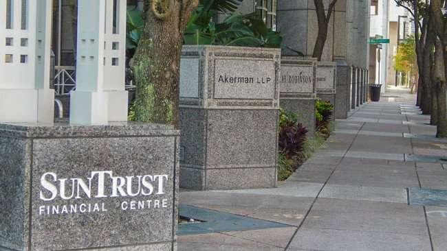 AUG 9, 2015 - Sidwalk at SunTrust Financial Centre, Akerman LLP, Tampa, FL/photonews247.com