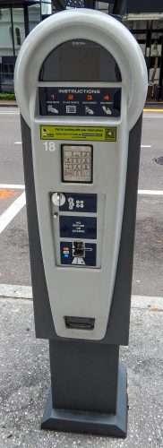 Solar Panel Parkmobil meter Downtown Tampa-FL