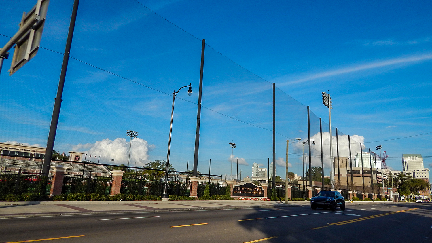 Stadium and Sport Field at University of Tampa on next to Kennedy Blvd