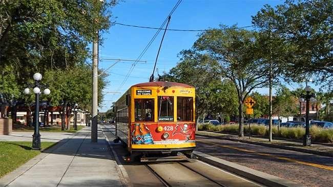 Streetcar 428 in Ybor City, Tampa, FL