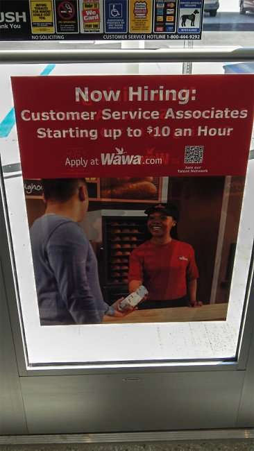 Wawa in Riverview FL - Hiring Customer Service Associates starting up to $10 an hour, apply at Wawa.com/2015 photonews247.com