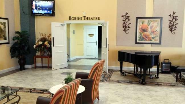 Doors to the Borini Theater in Kings Point, Sun City Center, FL/photonews247.com