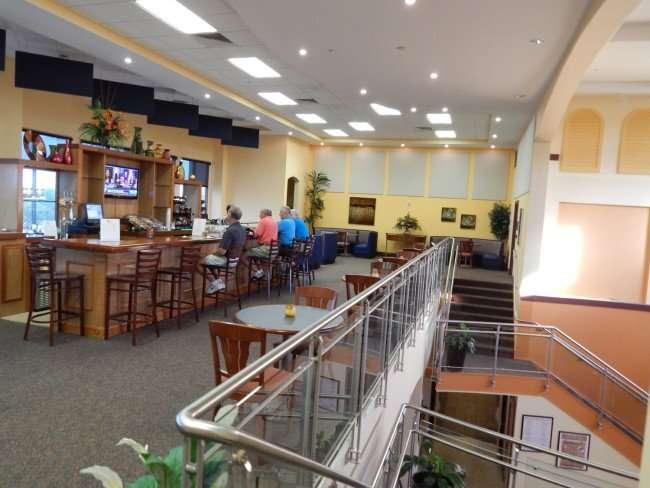 Second floor bar at the South Club House in the Kings Point neighborhood of Sun City Center, Florida/photonews247.com