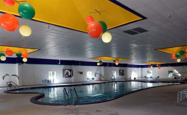 Indoor pool at the Main Club House in gated 55 plus retirement community of Kings Point, Sun City Center, Florida/photonew247.com