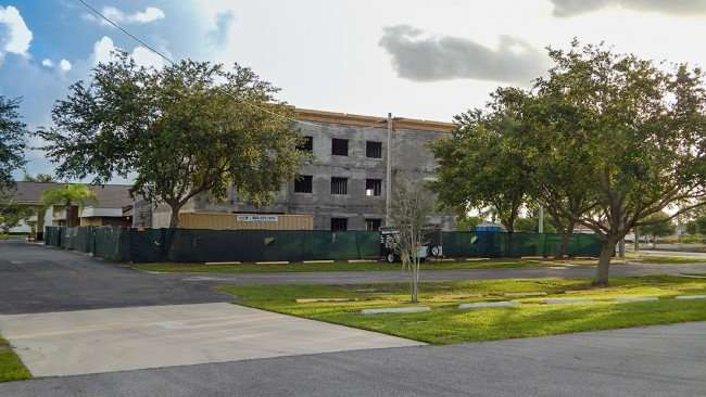 June 27, 2015 - Education building under construction at Trinity Baptist Church of Sun City Center, FL