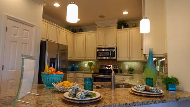 Kitchen in the Magnolia Floor Plan in Verona development in Sun City Center, FL