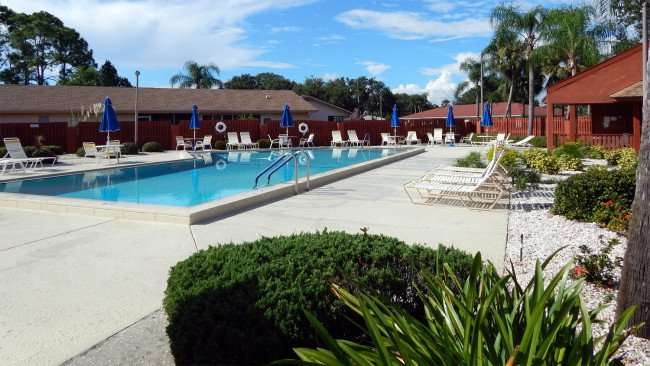 Knolls Pool Kings Point, Sun City Center, FL after raining/photonews247.com
