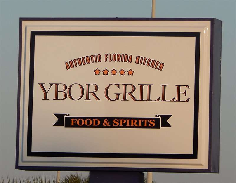 New Ybor Grille sign at 19th Avenue, off of US 41 in Ruskin, FL/2015 photonews247.com