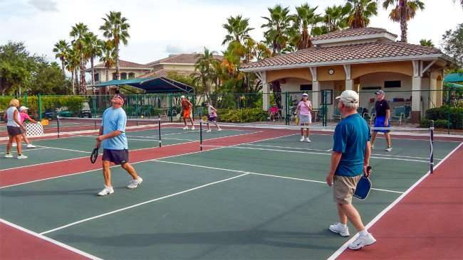 Pickleball League at the Kings Point South Club House in Sun City Center FL