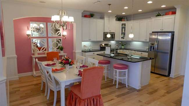 Pink themed Kitchen in Verona Home in Sun City Center, FL