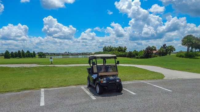 Scepter Golf Course with blue skies in Kings Point, Sun City Center, FL/photonews247.com