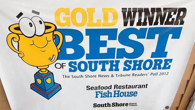 THE FISH HOUSE SEAFOOD Tampa Tribune Best Of 2012 Readers Poll awards Gold Winner Best Of South Shore