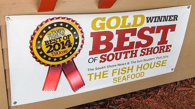 THE FISH HOUSE SEAFOOD Tampa Tribune Best Of 2014 TBOcom Gold Winner Best Of South Shore