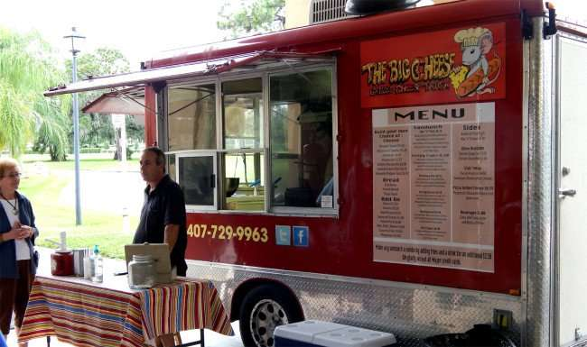 The Big Cheese Grilled Cheese Truck in Kings Point Club House, Sun City Center, FL/photonews247.com