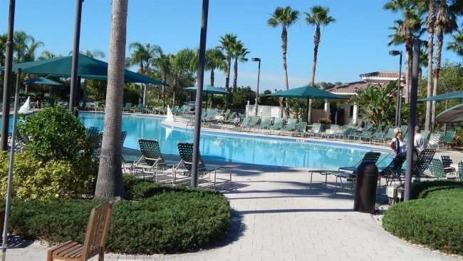S somber outdoor pool at Kings Point South Clubhouse on Thanksgiving 2013