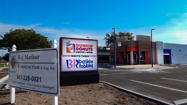 AUG 23, 2015 - Dunkin Donuts Baskin Robbins construction site, Sun City Center, Ruskin, FL/photonews247.com