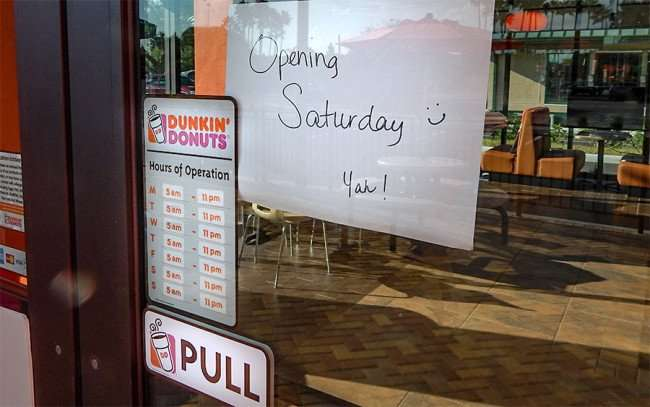 SEPT 24, 2015 - Dunkin Dounuts Sun City Center Opens Satruday Sept 26, 2015 on Cypress Blvd/photonews247.com