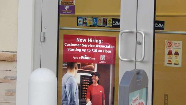 July 9, 2015 - Hiring Wawa up to 10 an hour on Summerfield Crossing Blvd in Riverview, FL