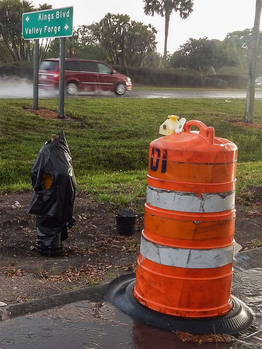 Installation of fire hydrants 2015 in Sun City Center, FL