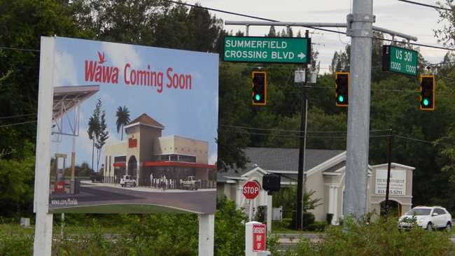 June 11, 2015 - Wawa coming soon sign on Summerfield Crossing Blvd and US 301, Riverview, FL