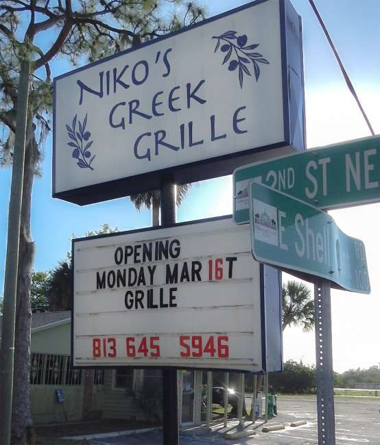 NIKOS Greek Grille opens Monday March 16, 2015, Ruskin, FL
