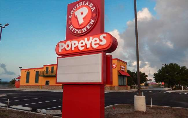 AUGUST 7, 2015 - Asphalt parking lot finished at Popeyes Chicken Restaurant on Big Bend, Riverview SouthShore, FL/photonews247.com