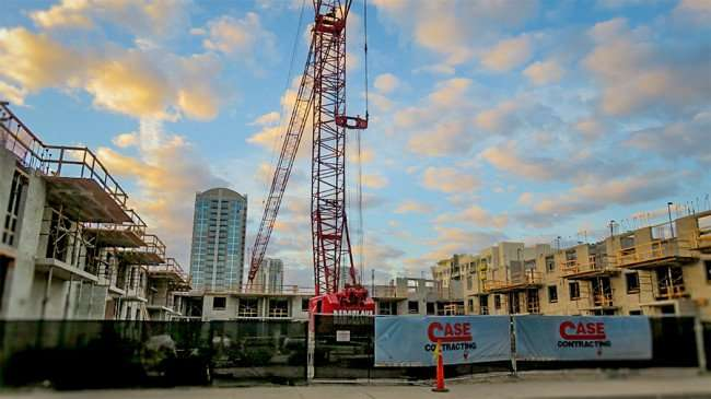 DEC 6, 2015 - Channelside Residences, Case construction site downtown Tampa/photonews247.com