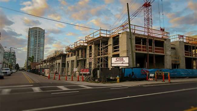 DEC 6, 2015 - Channelside Residences under construction by Case Contracting, Tampa, FL/photonews247.com