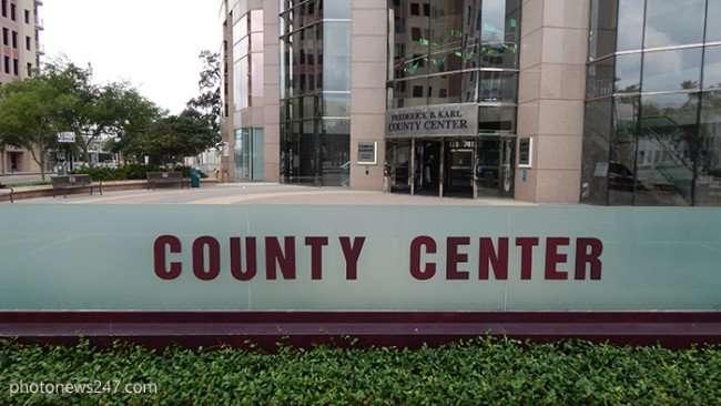 APR 27, 2015 - Fred Carl Hillsborough County Center sign Kennedy Blvd, Downtown Tampa, FL/photonews247.com