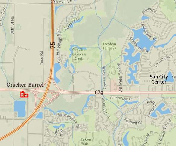 Cracker Barrel owns land in Ruskin, FL