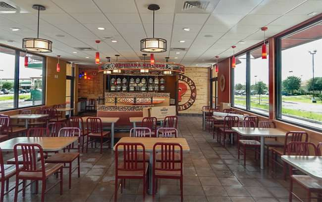 SEPT 26, 2015 - Inside Popeyes Chicken Riverview recently mopped on Big Bend/photonews247.com
