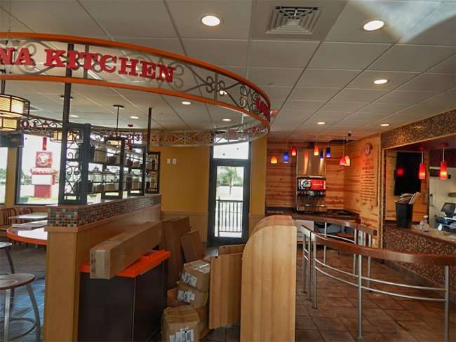 SEPT 26, 2015 - Inside counter of Popeyes Chicken Riverview, on Big Bend/photonews247.com