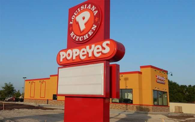 July 3, 2015 - Popeyes new sign on Big Bend built yesterday (July 2) Riverview SouthShore, FL