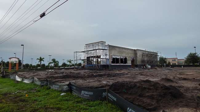June 11, 2015 - Construction of Popeyes Chicken on Big Bend Rd, Riverview, FL