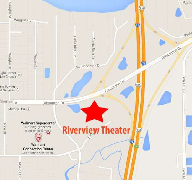 Location of Riverview 14 GDX Theater on Google Maps/ 2015 copyright Google