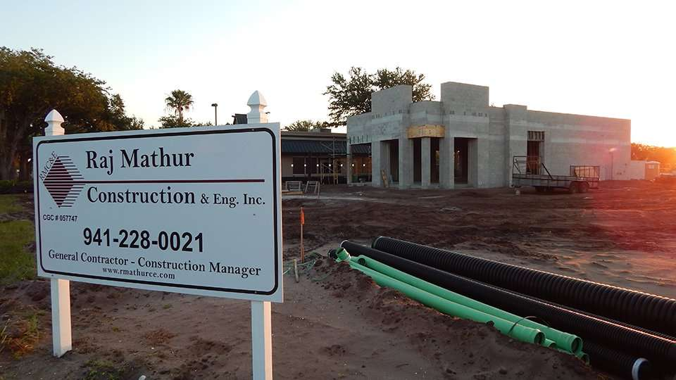 May 9, 2015 Raj Mathur Construction building Dunkin Donuts in Sun City Center Ruskin South Shore, FL/2015 Photo News 247