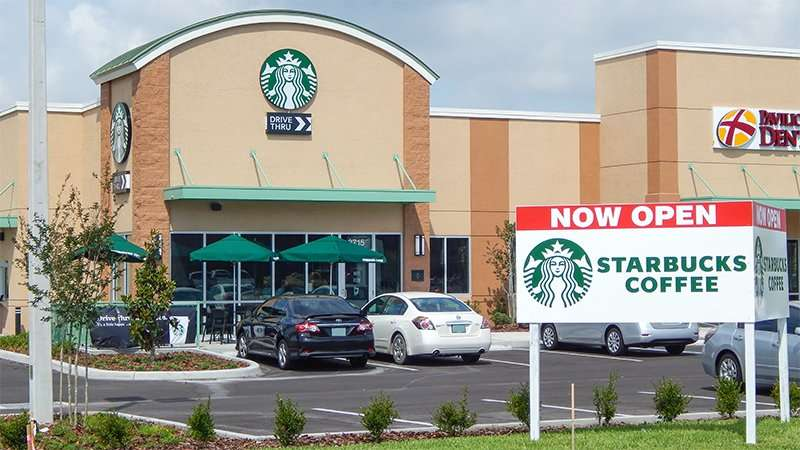 New STARBUCKS opened April 18 2015 on 301 and Falkenburg, Riverview, FL
