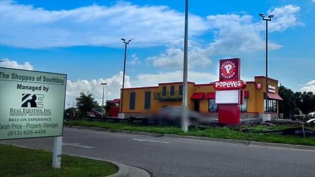 JULY 22, 2015 - Popeyes Chicken construction site at The Shoppes of Southbay on Big Bend Rd in Riverview, FL
