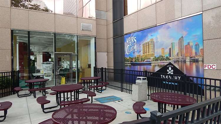 SOBIKS outside dining area on Kennedy Blvd, Downtown Tampa, FL