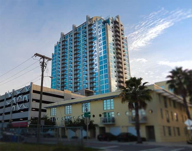 NOV 8, 2015 - Skyhouse Channelside Apartment high-rise from East Whiting Street and 11th Street, Tampa, FL/photonews247.com