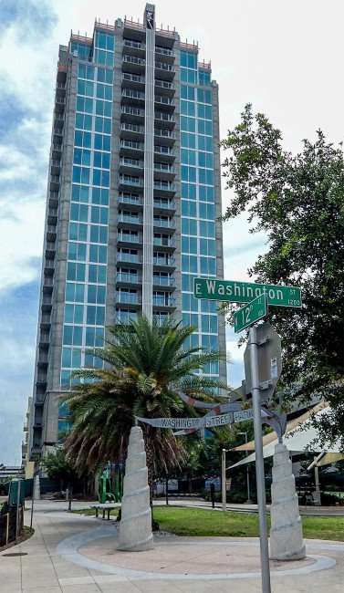April 19, 2015 - Skyhouse Channelside apartments on 12th Street now leasing Downtown, Tampa, Florida
