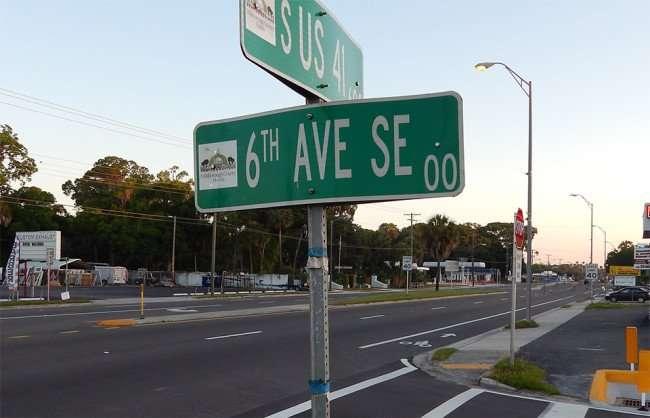 MAY 8, 2015 Bike Lane at 6th SE Ave and US 41, Ruskin, FL/photonews247.com