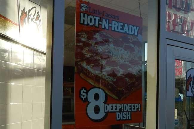 May 5, 2015: Deep Deep Dish Pan at Little Caesars Pizza is delicious/photonews247.com