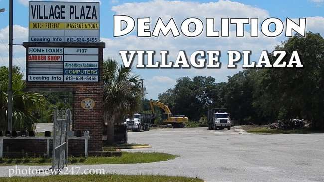April 2015 - Demolition of Copper Penny and Village Plaza, Wimauma, FL
