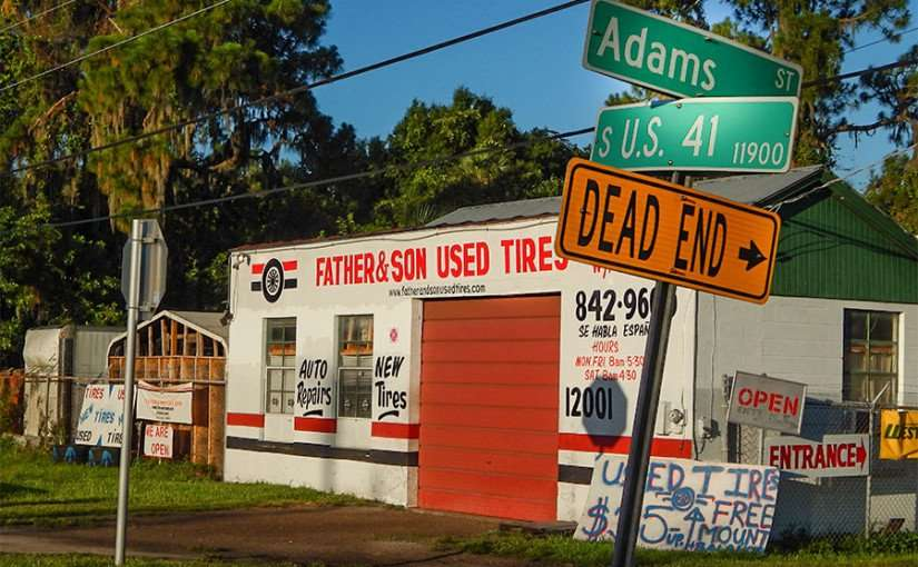 Father and Sons Used Tires, Adams St and S US 41, Gibsonton, FL