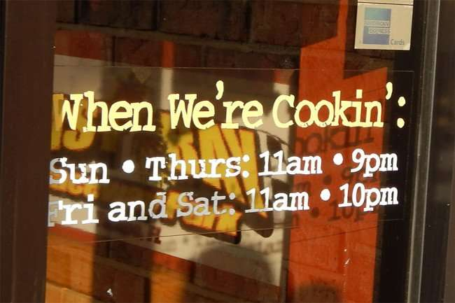 May 2015: Hours at Bubbaques BBQ, Sun City Center-Ruskin, FL/photonews247.com