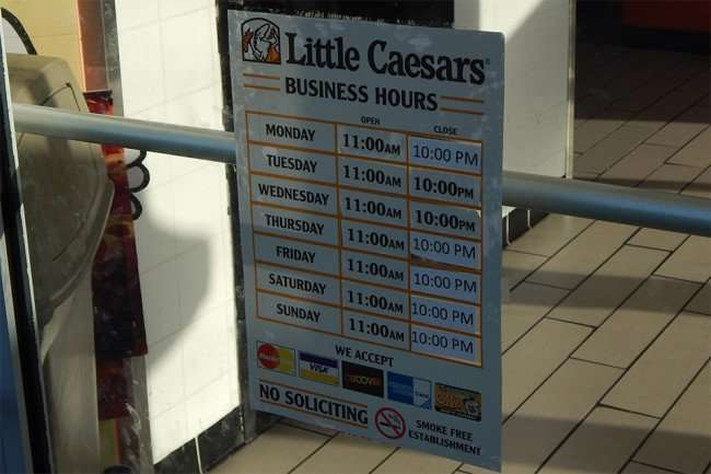 May 2015: Hours at Little Caesars Pizza, Ruskin, FL/2015 photonews247.com